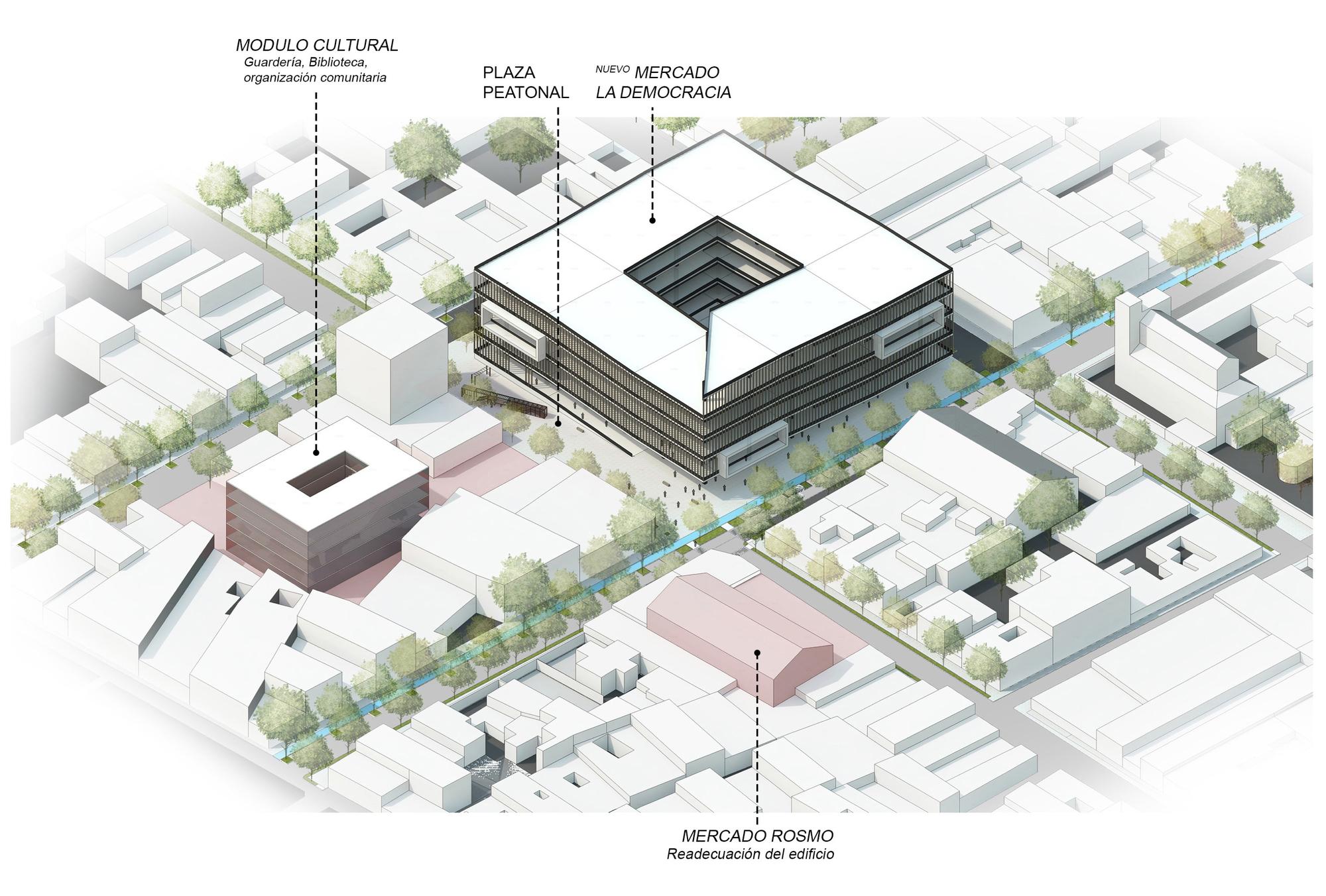 Mercado ambulante 39 la democracia 39 rehabilitando un rea for Arquitectura de proyectos