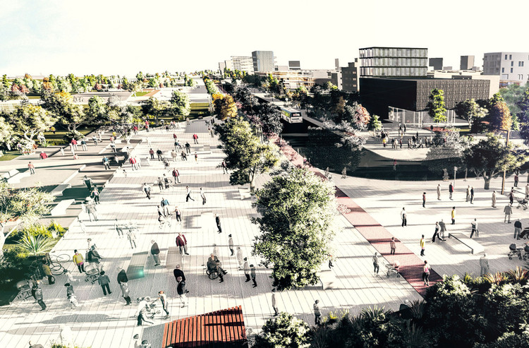 Primer Premio Concurso Iberoamericano de Ideas: 5 Miradas Estratégicas para el Área Metropolitana de Rosario, vía Simón Salvachúa