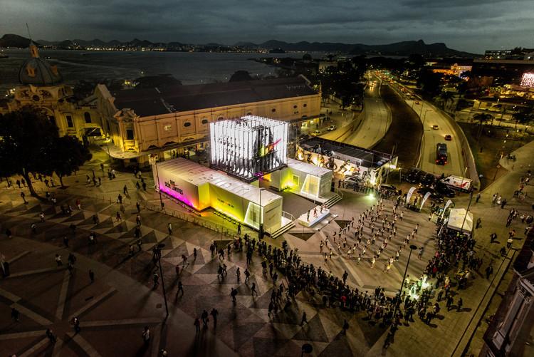 La arquitectura efímera de GTM Cenografia para NIKE en Río 2016, Cortesía de Nike