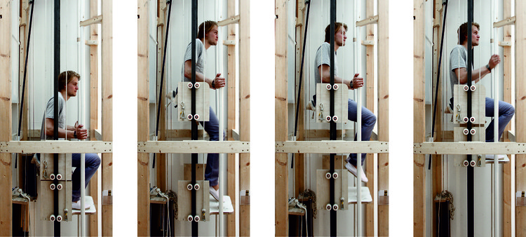 """Vertical Walking"" Prototype Aims to Replace the Stair, Vertical Walking movement. Image © Rombout Frieling Lab"