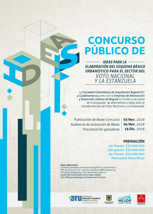 Concurso Público de Ideas para la elaboración del esquema básico urbanístico para el sector del Voto Nacional, Bogotá D.C