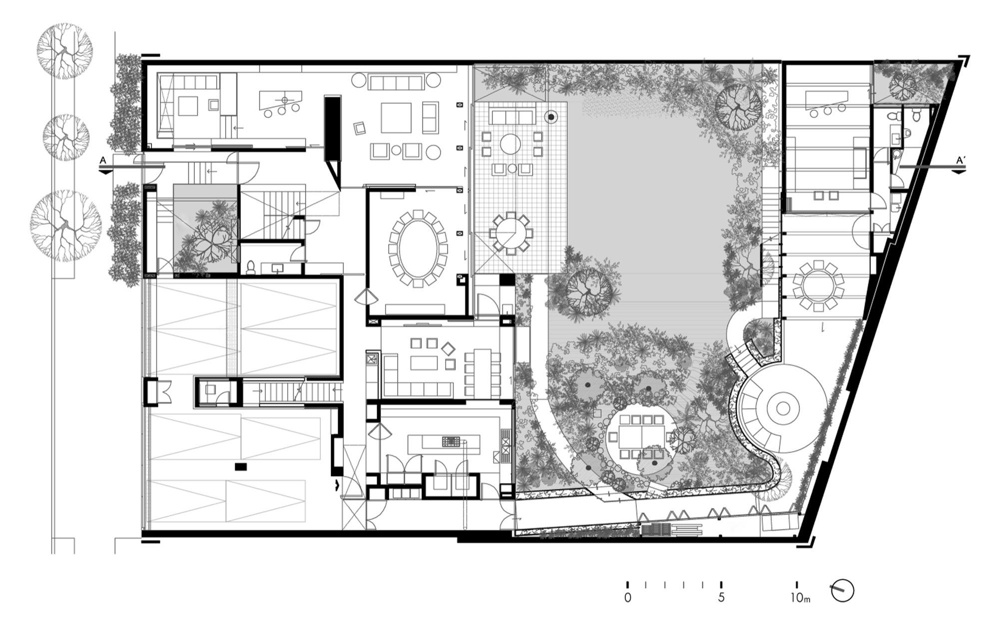 Galer a de casa o despacho arquitectos hv 19 for Plantas arquitectonicas de casas