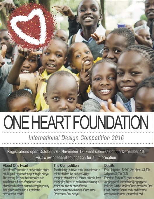 Call for Entries: Kenyan Children's Village Masterplan, Enter the One Heart Foundation International Design Competition 2016