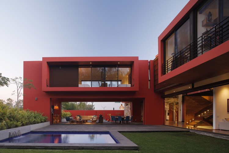 Casa Roja / Hernández Silva Arquitectos, © Carlos Díaz Corona