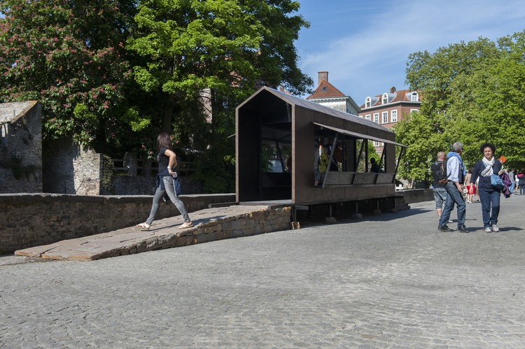 Bridge by the Canal, Triennale Brugge (2015). Image Courtesy of Studio Mumbai