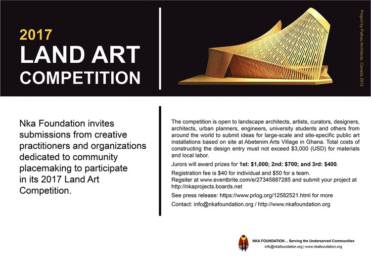Open Call: 2017 LAND ART COMPETITION, 2017 LAND ART COMPETITION