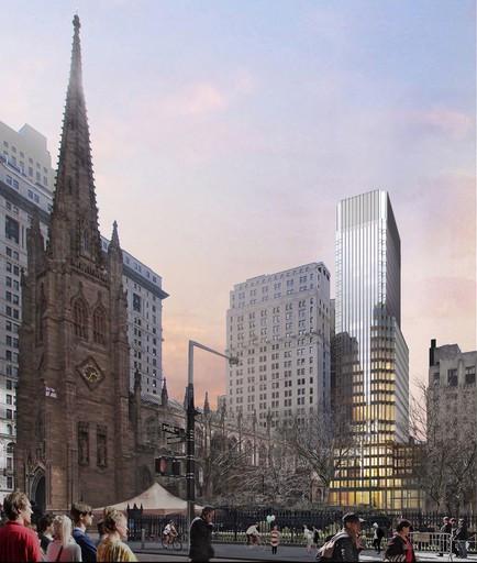 Pelli Clarke Pelli diseña nuevo proyecto de la Iglesia de la Trinidad en Nueva York, © Pelli Clarke Pelli Architects