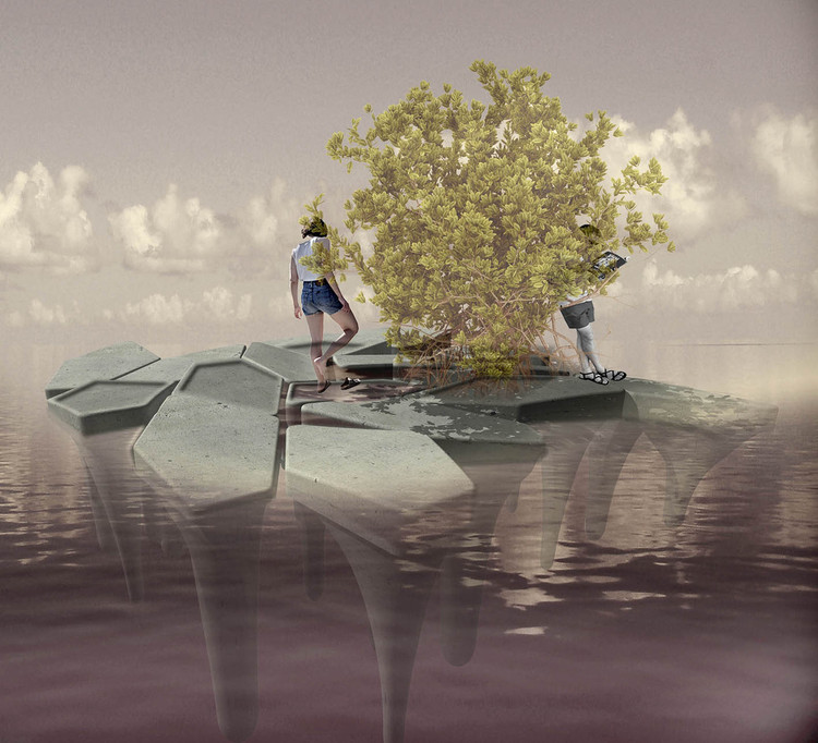 CEMEX + Aptum Architecture's Floating Concrete Structures Act as Mangroves for Shorelines, Courtesy of Aptum Architecture