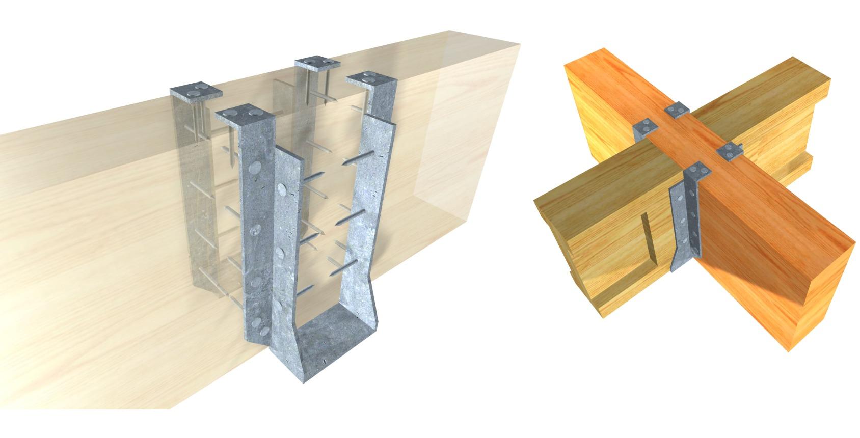Galer a de 15 herrajes met licos para conectar estructuras - Estructuras de madera laminada ...