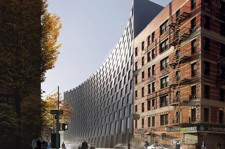 Anunciado o projeto final de BIG para o East Harlem, © Blumenfeld Development Group. Via Curbed NY