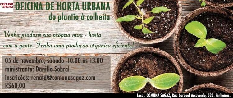 Oficina de Horta Urbana, Oficina de horta urbana com o arquiteto especialista em paisagismo e jardinagem, Danillo Sobral