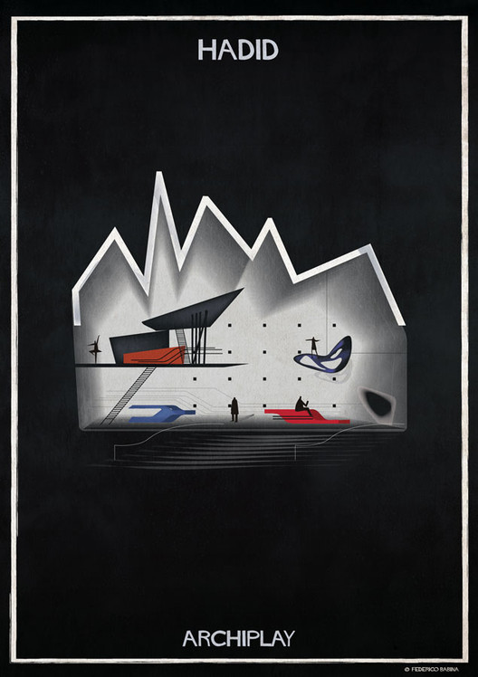 Federico Babina's ARCHIPLAY Illustrations Imagine Set Designs by Master Architects , © Federico Babina