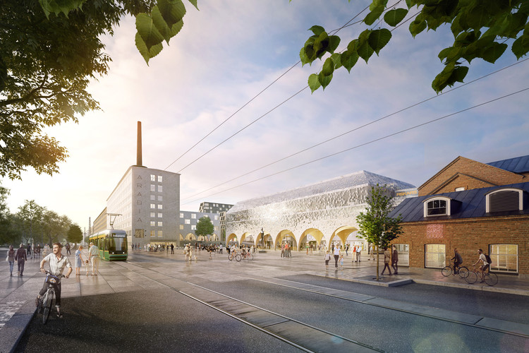 Arabiazza(s) Urban Plan for the Arabia District of Helsinki Focuses on Sustainability, Courtesy of OOPEAA