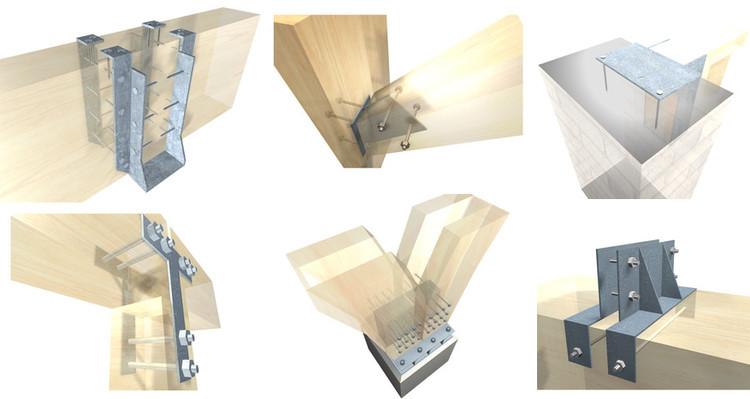 15 conexões metálicas para estruturas de madeira laminada Arauco, Cortesía de Arauco