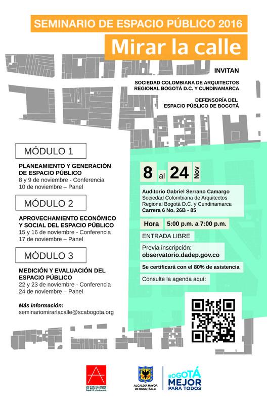 Seminario de espacio público 2016: 'Mirar la calle', Cortesía de Unknown