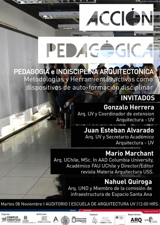 Sesión de 'Acción Pedagógica': Pedagogía e indisciplina arquitectónica, diseño: Rocio Camacho