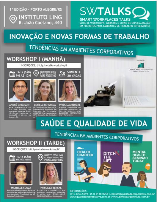 Workshops sobre Tendências em Ambientes Corporativos: Inovação e Novas Formas de Trabalho + Saúde e Qualidade de Vida no Trabalho, Cortesia de Unknown