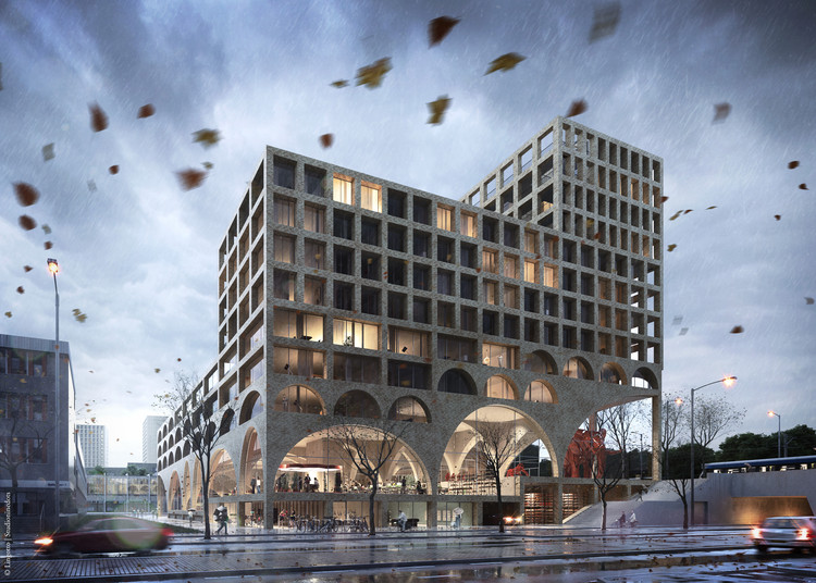 "Studioninedots Will Create a ""Super Space"" in Amsterdam, Courtesy of Studioninedots 