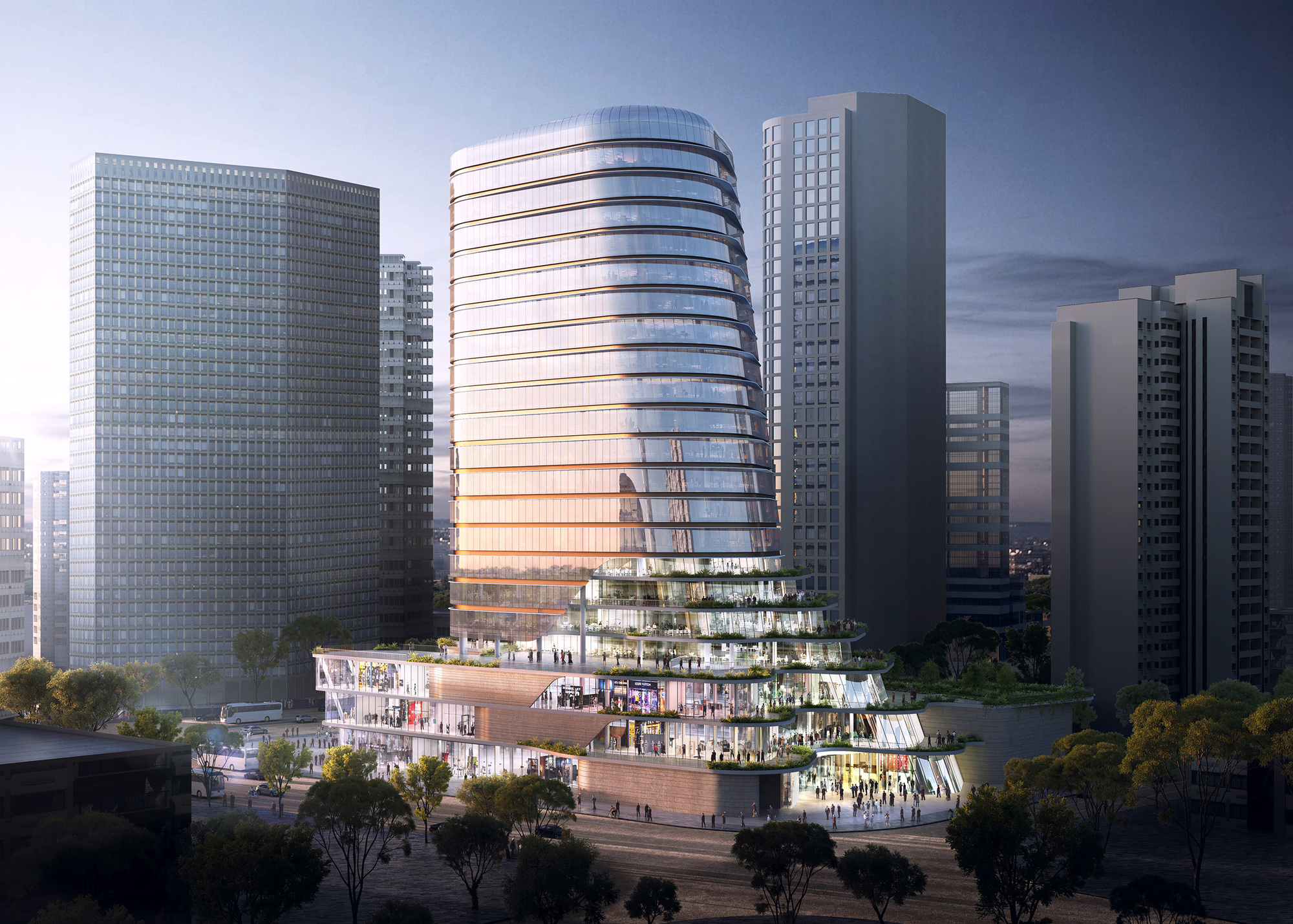 Aedas 39 cloud on terrace will bring vertical public space for Terrace building