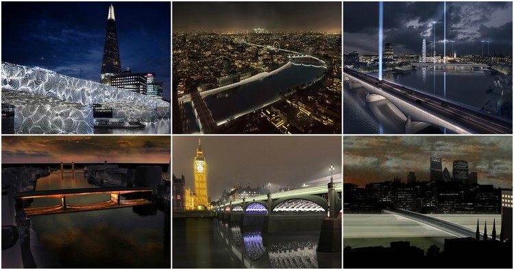 6 Shortlisted Designs Unveiled in London's Illuminated River Competition
