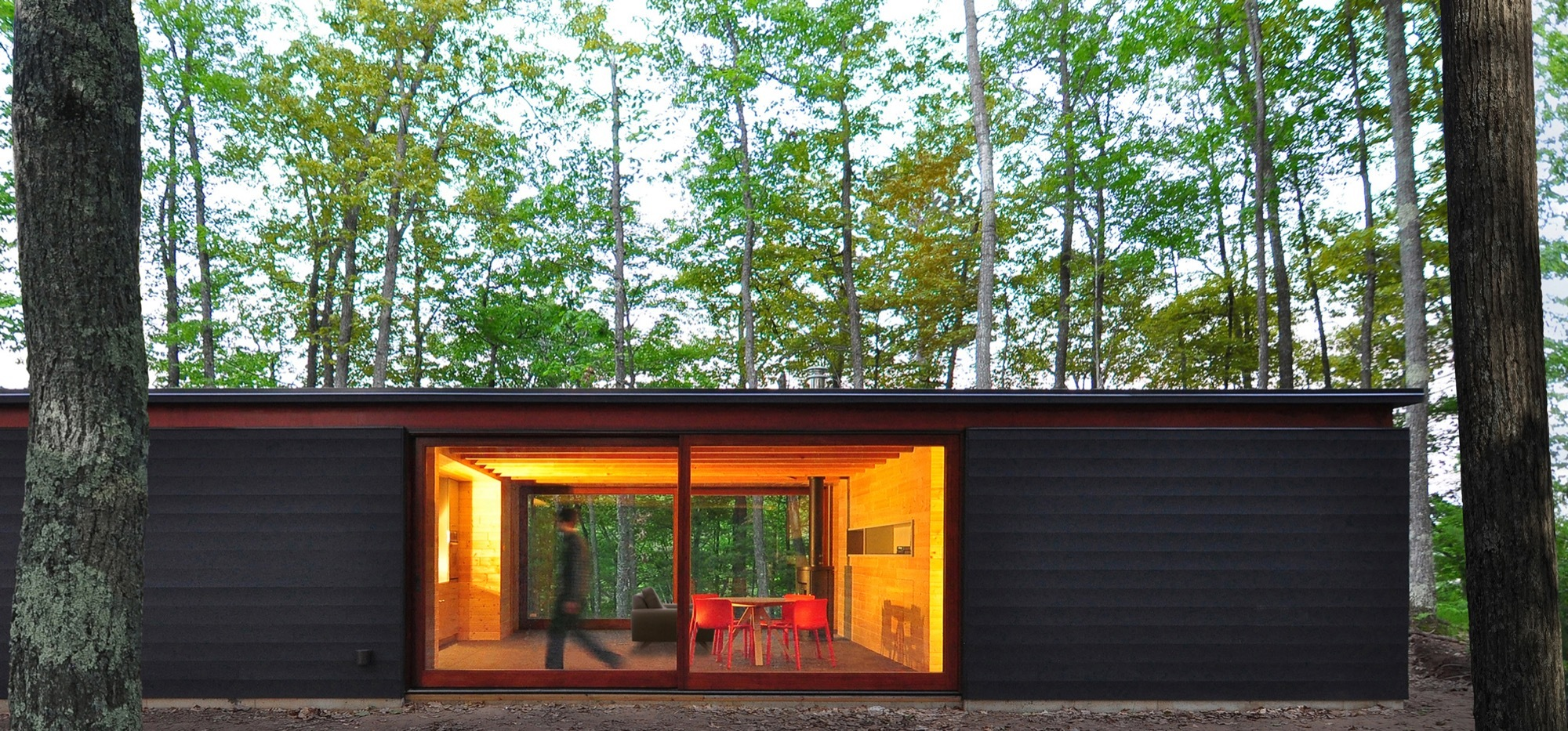 Linear Cabin Johnsen Schmaling Architects Archdaily