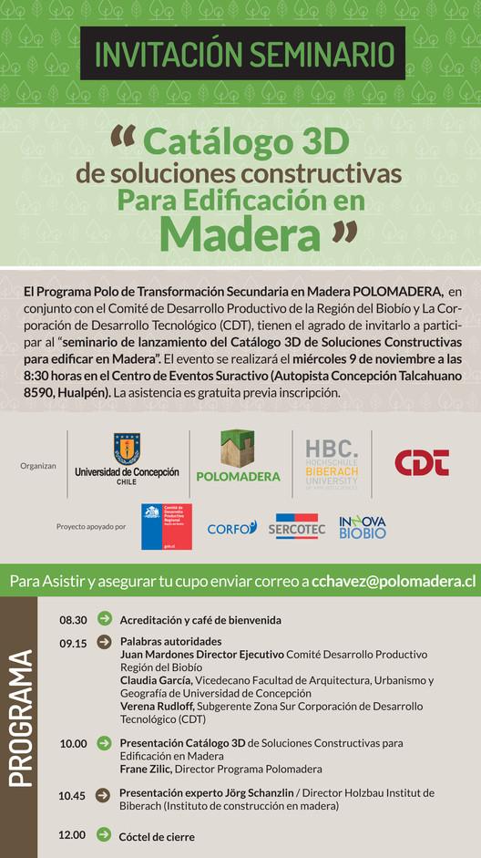Seminario Catálogo 3D de Soluciones Constructivas Para Edificación en Madera, Cortesía de Unknown