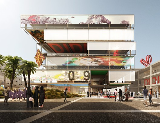 Foster + Partners' Design for d3 Stage 2. Image Courtesy of Dubai Design District