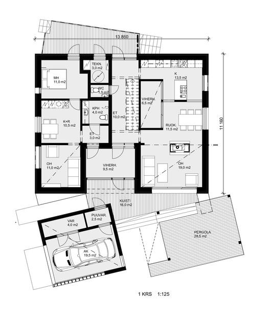 house savukvartsi honkarakenne archdaily. Black Bedroom Furniture Sets. Home Design Ideas