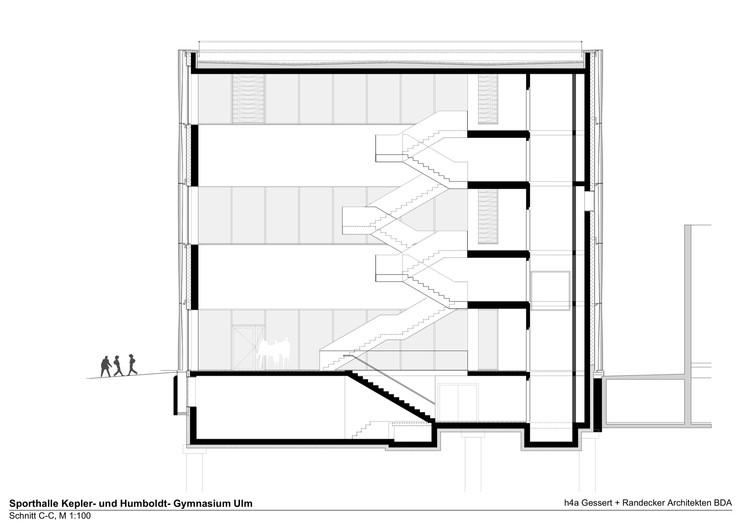 Architekten Ulm sporthalle kepler und humboldt gymnasium h4a architekten archdaily