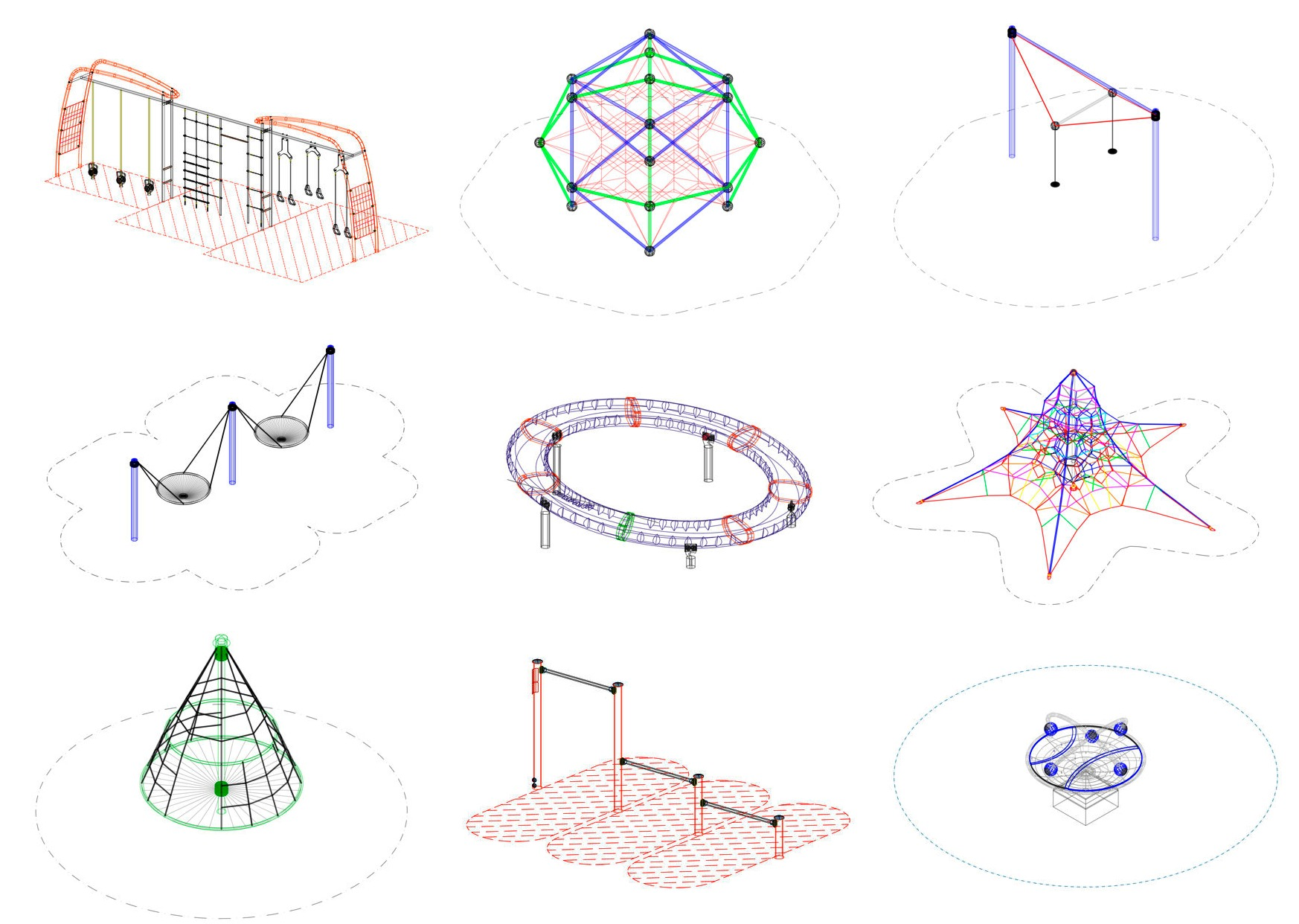 15 cad blocks and files for playground equipment archdaily for 3d drawing online no download
