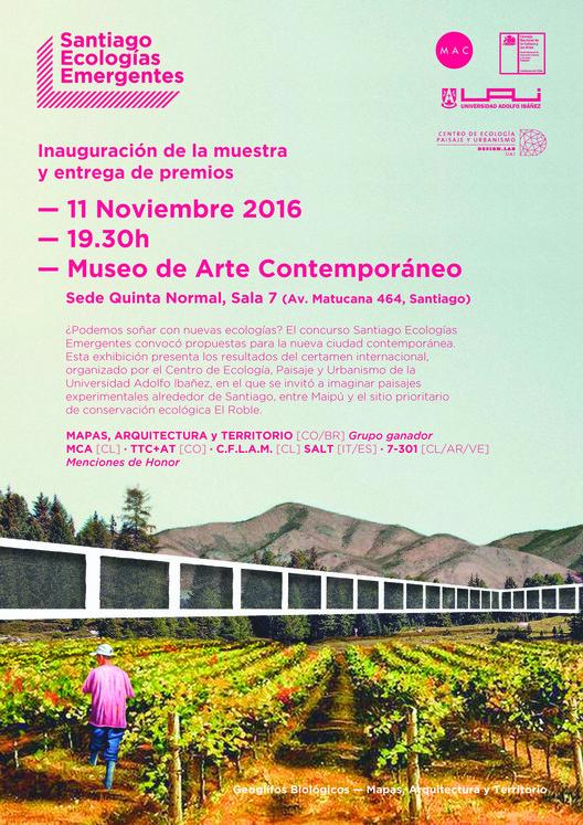 Premiación del concurso e inauguración de la muestra Santiago Ecologías Emergentes - MAC Quinta Normal, Enric Adell