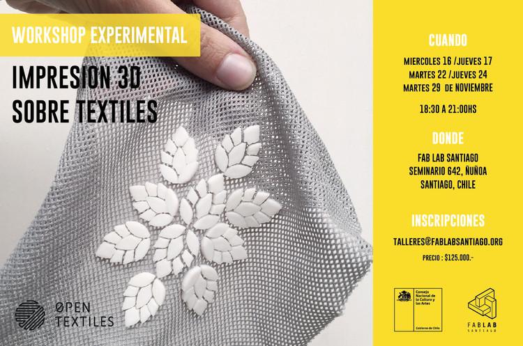 Workshop Impresión 3D Sobre Textiles, Cortesía de Unknown