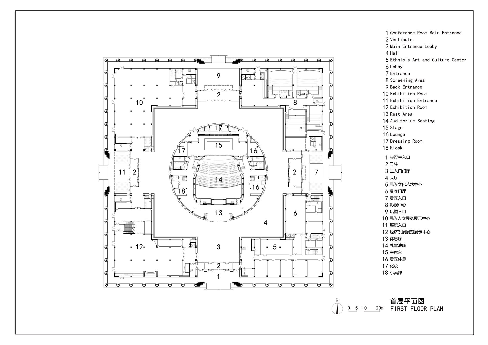 gallery of da chang muslim cultural center architectural design