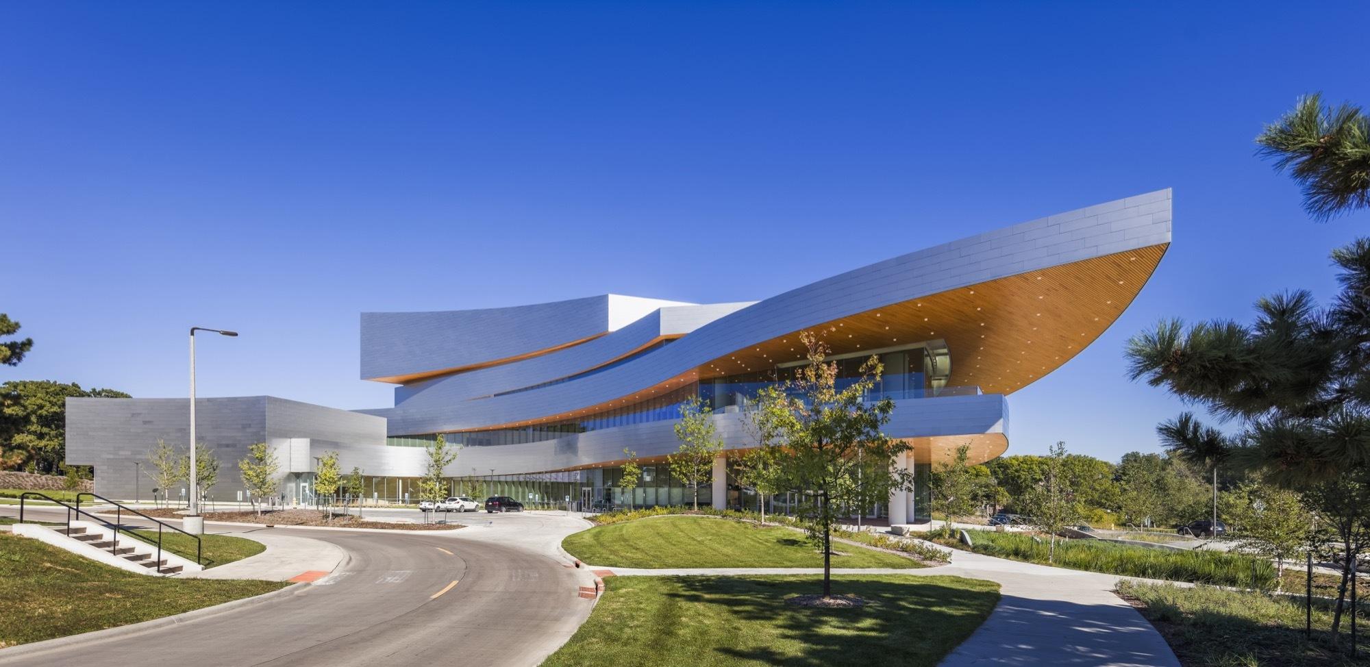 Hancher Auditorium Pelli Clarke Pelli Architects Archdaily