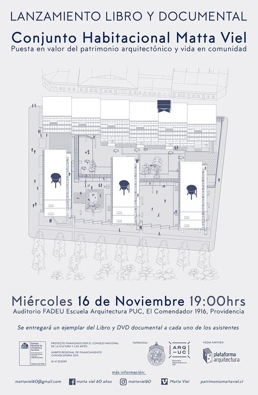 Lanzamiento libro y documental Conjunto Habitacional Matta Viel / Santiago, Leonardo Suárez