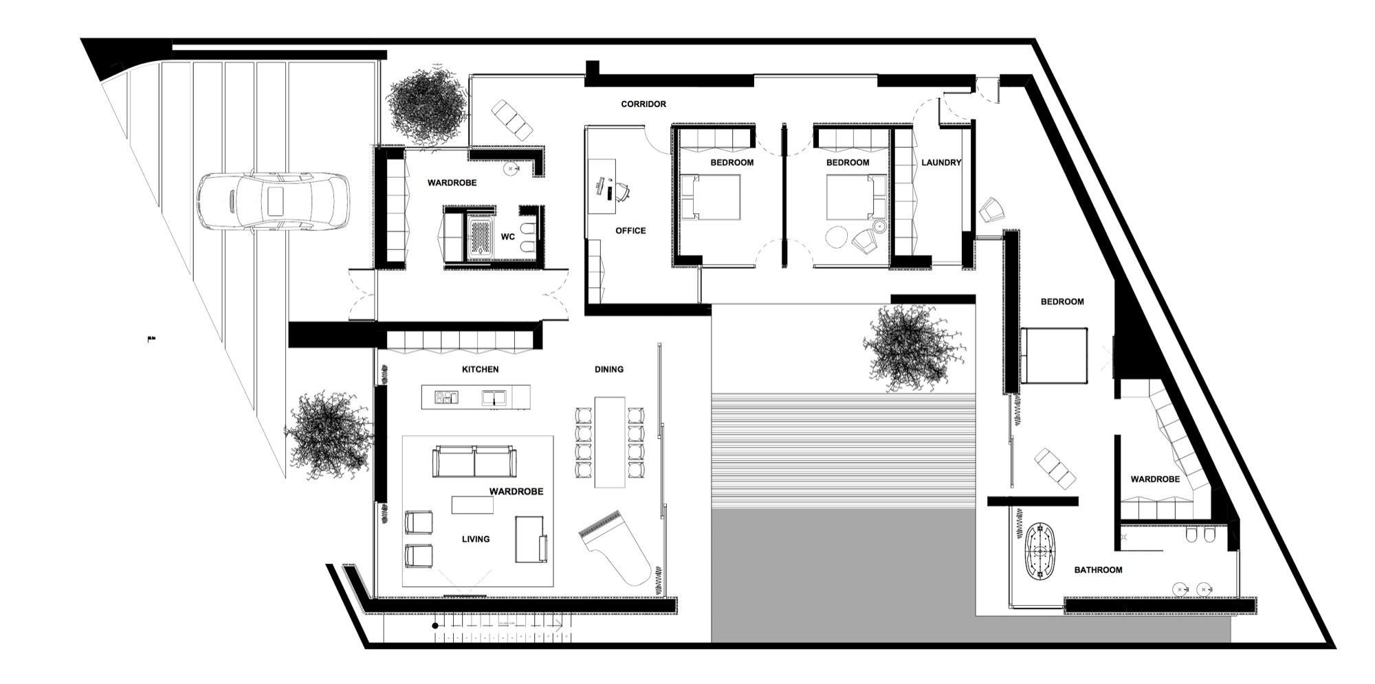 Gallery of piano house line architects 50 for Design della casa a un piano