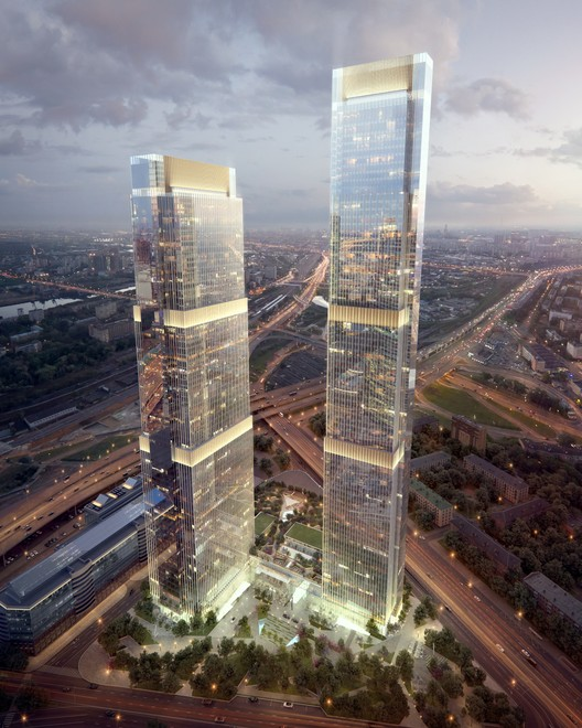 HOK + FXFOWLE + SPEECH Unveil Designs for Moscow City's Final Skyscrapers, Courtesy of Renaissance Development