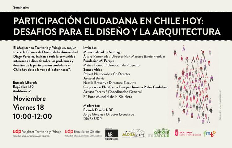 Seminario de participación ciudadana en Chile: desafíos para el diseño y la arquitectura, Cortesía de Unknown