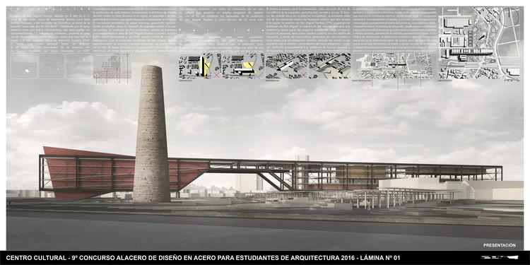 Equipe vencedora do Concurso CBCA ganha 9º Concurso para Estudantes de Projetos em Aço Alacero 2016, Cortesia de Centro Brasileiro da Construção em Aço - CBCA
