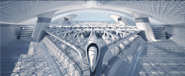RB Systems Proposes Cutting-Edge Hyperloop Station, © RB Systems