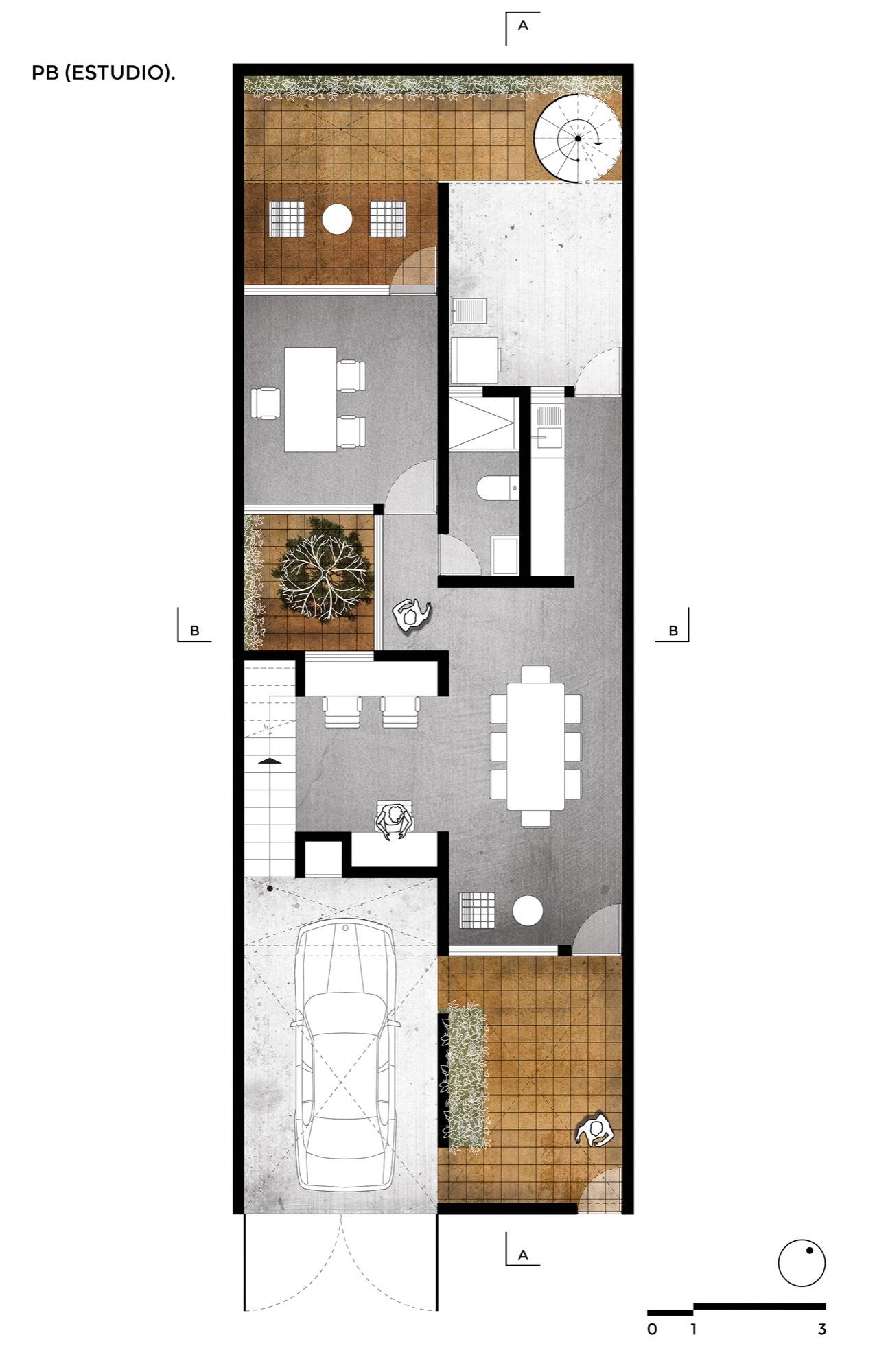 Gallery of casa estudio intersticial arquitectura 15 for Plan de arquitectura