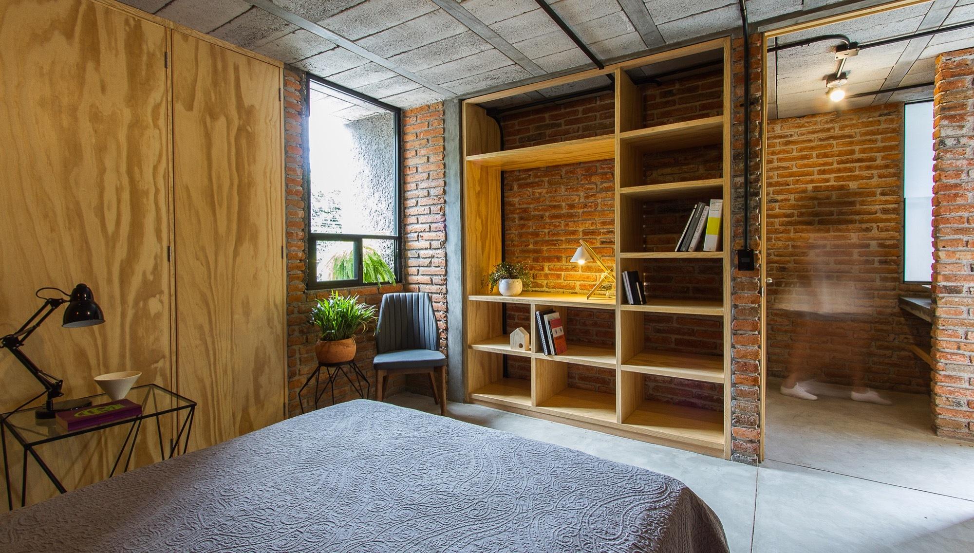 Galer a de casa estudio intersticial arquitectura 9 for Casa estudio arquitectura