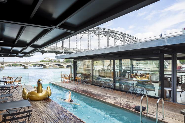 Hotel flottant seine design archdaily for Design hotel paris 14