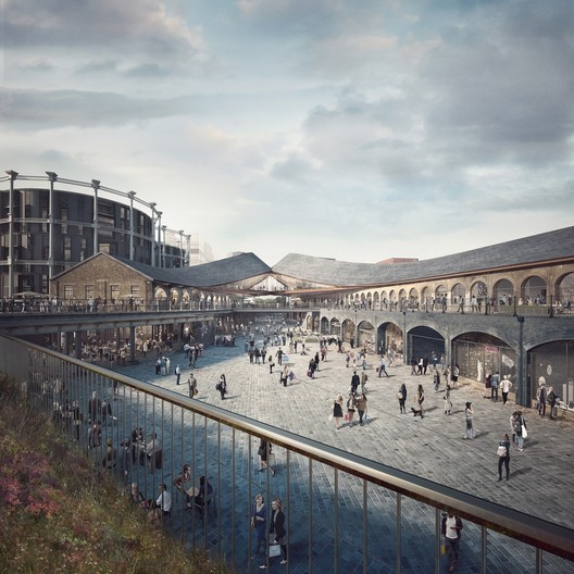 Heatherwick Studio's design for the new Coal Drops Yard shopping area at King's Cross. Image © ForbesMassie