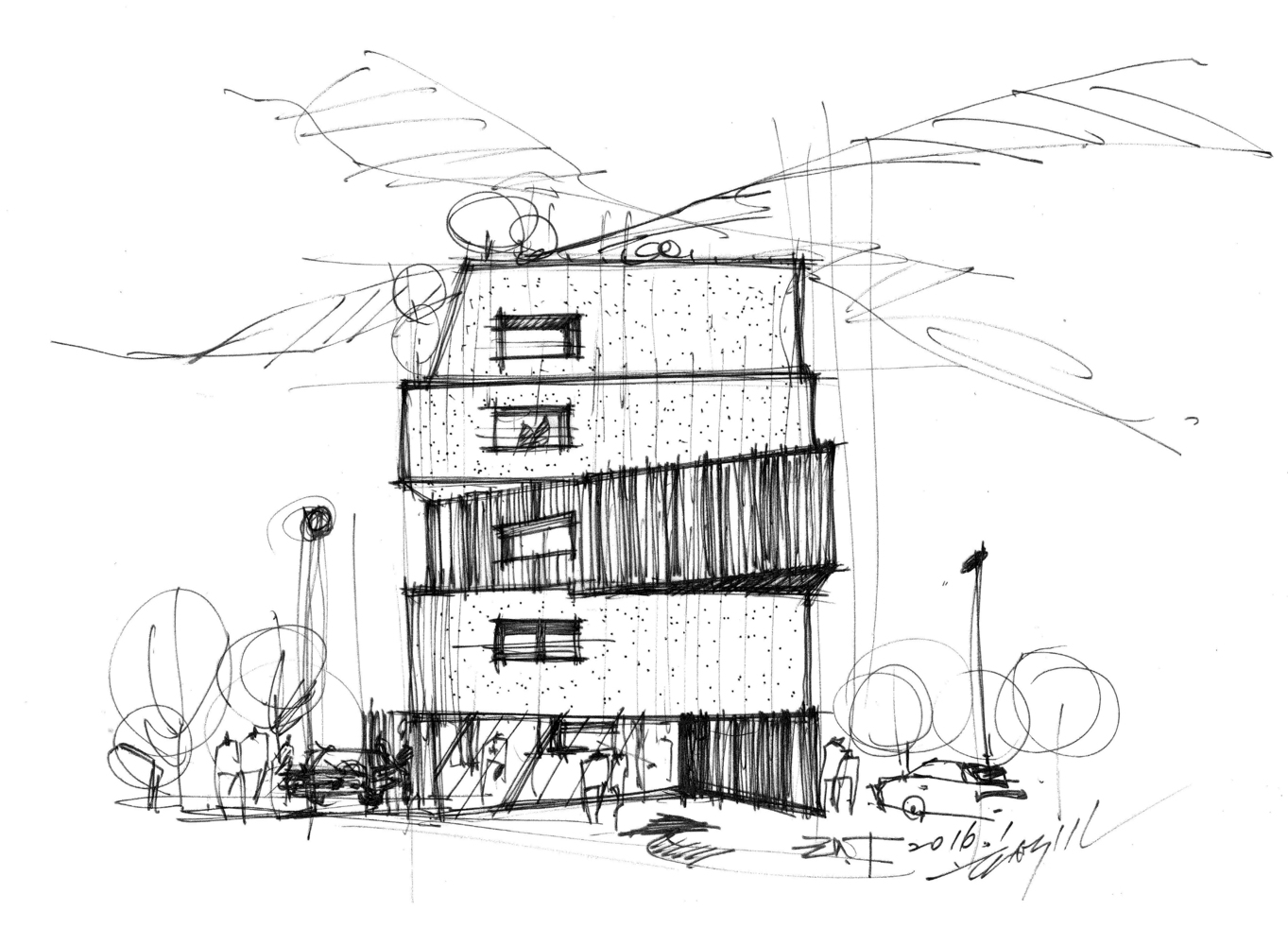 Happy House,Sketch