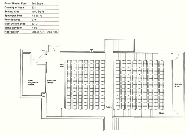 How to Design Theater Seating Shown Through 21 Detailed Example