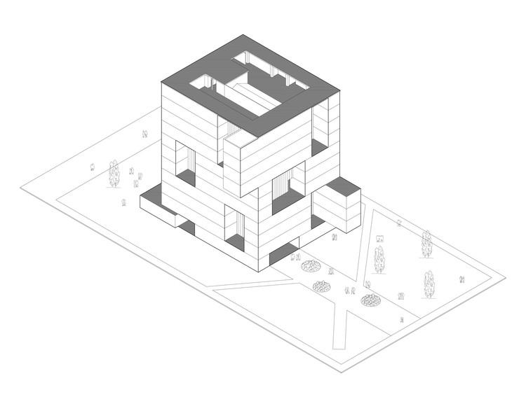 Ícones da arquitetura chilena em desenhos axonométricos, Cortesia de Universidad San Sebastián