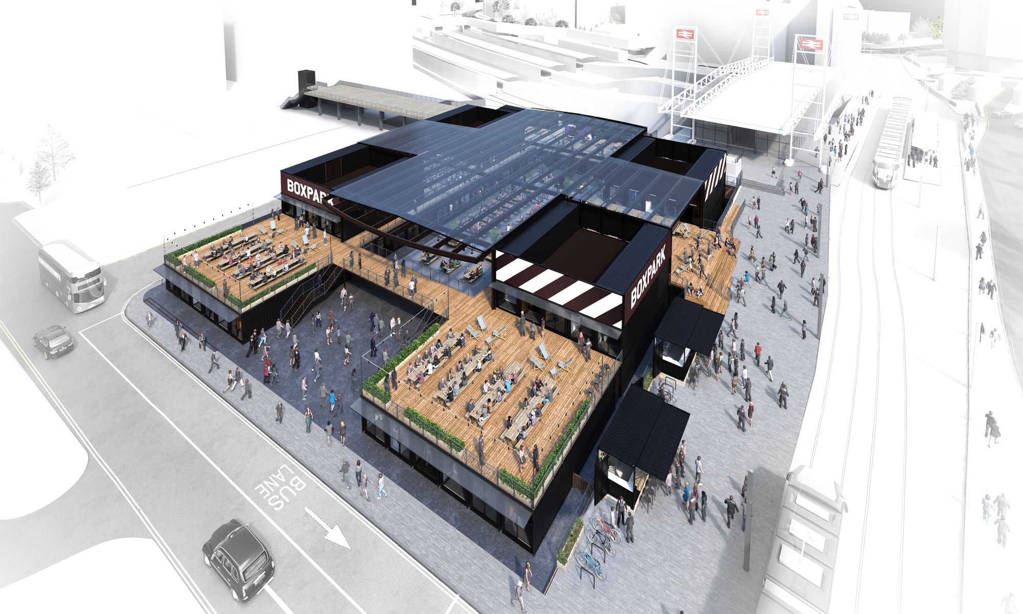 Floor Plan Of A Shopping Mall Gallery Of Boxpark Croydon Bdp 11