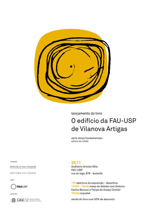 Editora da Cidade promove lançamento do livro 'O edifício da FAU-USP de Vilanova Artigas', de Antonio Carlos Barossi, Cortesia de Unknown