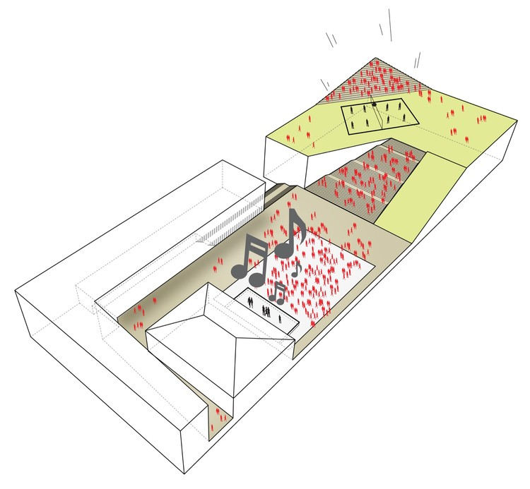 Courtesy of White Arkitekter   Henning Larsen Architects. The Parking Garage that Moonlights as a Sledding Slope   White